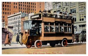 New York  City , new Fifth Avenue Stage , Tourist Car
