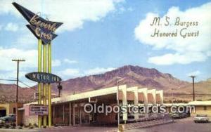 Beverly Crest Motor Inn, El Paso, TX, USA Motel Hotel Postcard Post Card Old ...