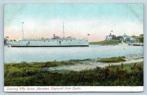 Postcard USS Reina Mercedes Training Ship Captured From Spain c1906 V12