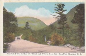 Auto Road through Crawford Notch - Mt Willard and Mt Webster - NH New Hampshire