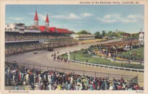 Kentucky Louisville Souvenir Of The Kentucky Derby Curteich