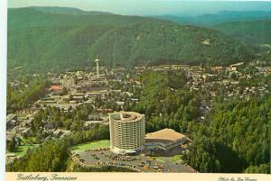 Postcard Tennessee Gatlinburg Aerial Tramway Lift Ski Resort Smokey Mts # 2914A
