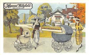 Geneva NY Heywood-Wakefield Baby Carriages Curt Teich Linen Postcard