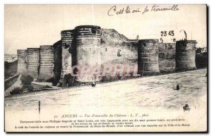 Old Postcard Angers Overview of Chateau