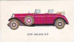 Mobil Oil Vintage Trade Card Vintage Cars 1966 No 22 Delage D.8 1930