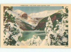 Linen LAKE SCENE Banff Alberta AB AE4479