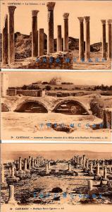 1920 Twelve Carthage Tunisia Postcards: Archaeological Ruins in Sepia-Tones