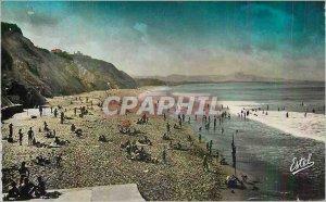Modern Postcard Biarritz The Beach of the Cote des Basques and Fond Chaine de...