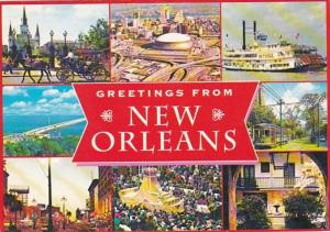 Louisiana New Orleans Greetings With Multi View