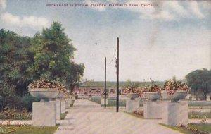 Illinois Chicago Promenade In Floral Garden Garfield Park 1908