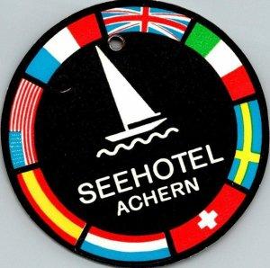 Germany Achern Seehotel Vintage Luggage Tag sk4791