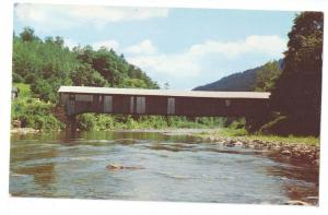 Covered Bridge Postcard Pennsylvania Forksville PA Loyalsock