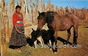 Yung Navajo Girl, Alice Yazzie Navajo Reservation, Arizona, USA Unused