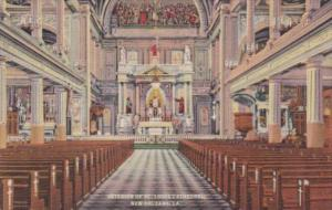 Louisiana New Orleans Interior Of St Louis Cathedral Curteich