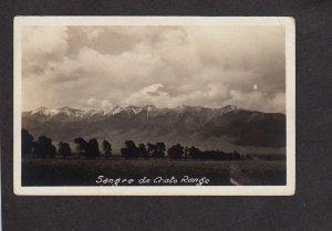 NM Sangre de Criston Range New Mexico Real Photo RPPC Postcard CO Colorado