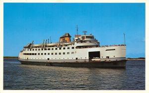 Nantucket Island ro Wood Hole Massachusetts~Motor Vessel~Poisson Postcard 1960s