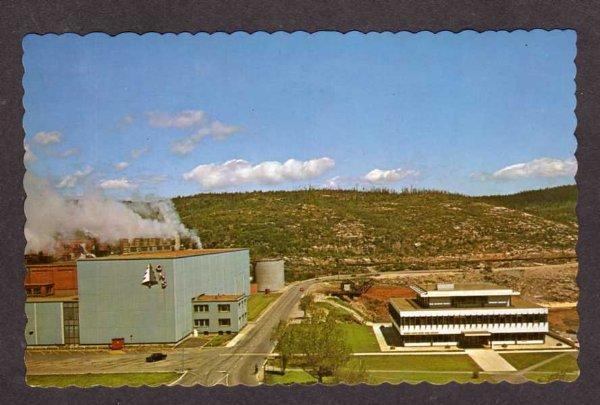 PQ Quebec North Shore Paper Mill Baie Comeau Canada Carte Postale Postcard PC