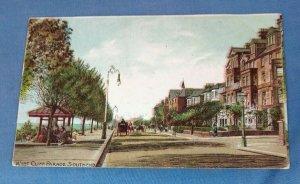 Vintage Postcard West Cliff Parade Southend K1C