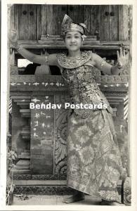 indonesia, BALI, Beautiful Native Legong Dancer Girl (1940s) Paris Foto RPPC (1)