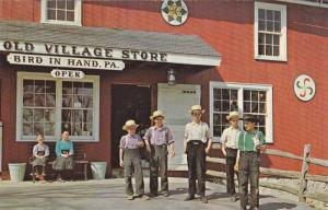 Greetings From The Amish Country, Amish Children in Front of The Old Village ...
