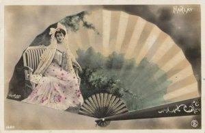 RP: Art Nouveau Fan Portrait , PU-1907 ; HARLAY