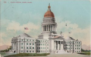 BOISE Idaho - early ORIGINAL view of STATE CAPITOL BUILDING / 1907