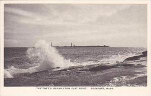 Massachusetts Rockport Thatchers Island From Flat Point Albertype