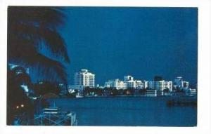 Tropical Miami Beach At Night, Miami Beach, Florida, 1940-1960s