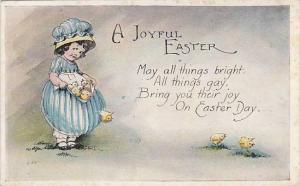 A Joyful Easter, Girl holding chicks in apron, 10-20s