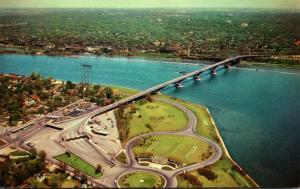 New York Buffalo Aerial View Of Peace Bridge
