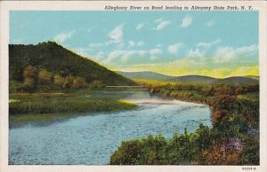 New York Alleghany River On Road Leading To Allegheny State Park Curteich