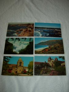 Carmel CA - Lot Of 6 Great Vintage Postcards - x0344
