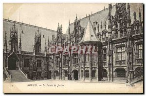 Old Postcard Rouen Courthouse