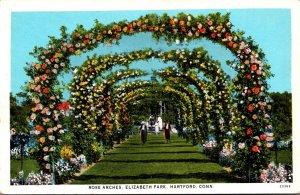 Connecticut Hartford Elizabeth Park Rose Arches Curteich
