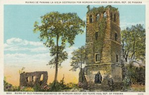 PANAMA, 1910s; Ruins of Old Panama Destroyed by Morgan About 300 Years Ago