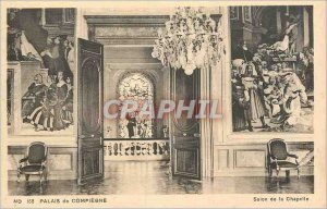 Postcard Old Palace of Compiegne Chapel Lounge
