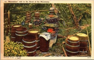 Vintage Postcard Moonshine Heart of the Mountains Kentucky 1953 Unposted   206