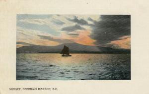 NANAIMO , B.C. , 1909 ; Harbour Sunset