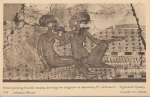 Daughters Of Amanehetep Ashmolean Museum Fresco Painting Postcard