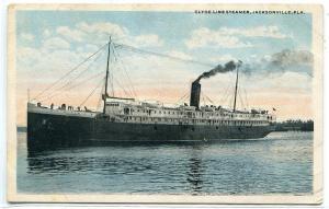 Steamer Clyde Line Jacksonville Florida 1920s postcard