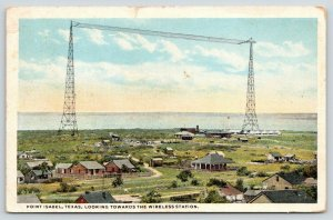 Point Isabel Texas~Bird's Eye View Towards Wireless Station~Panorama Homes~1923