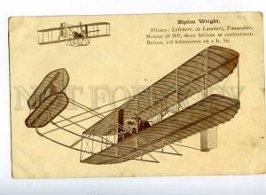 205211 FRANCE AVIATION airplane biplane pilot Wright old