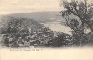 Oil City Pennsylvania~View from Hogback Overlooking Town & River~Bridges~c1905