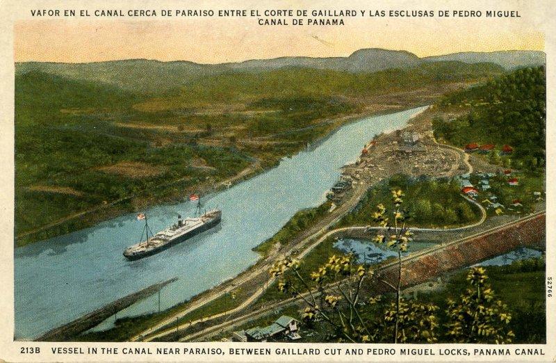 Panama - Panama Canal Between Gaillard Cut & Miguel Locks