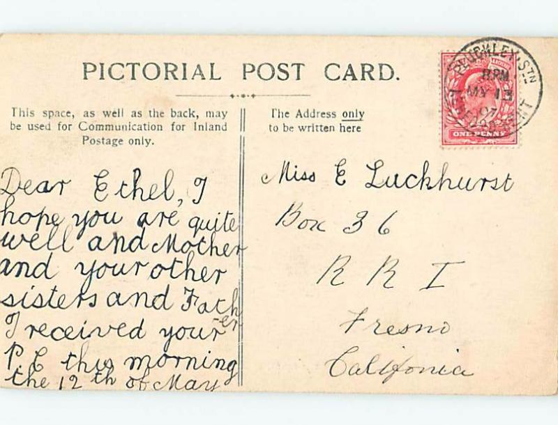 old card BEACH Broadstairs On Isle Of Thanet - East Kent England UK F5513