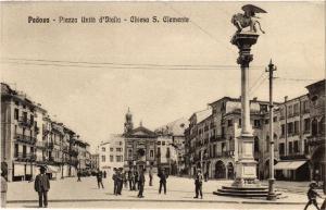 CPA PADOVA Piazza Unitá d'Italia, Chiesa S.Clemente . ITALY (494012)
