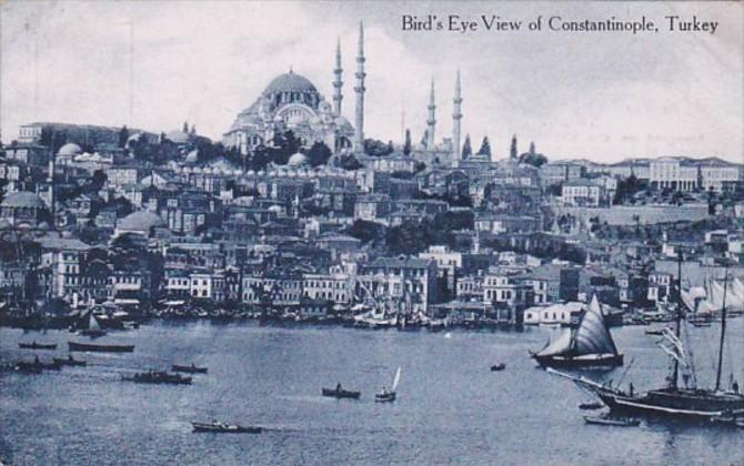 Turkey Constantinople Birds Eye View