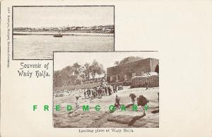 1905 Wady Halfa Sudan Multiview Postcard: Small Town Before The Flooding