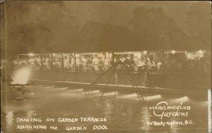 Washington DC    Maryland Club Gardens c1930 Real Photo Postcard