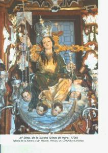 Postal 014576: Virgen Maria Santisima de la Aurora (Diego de Mora)